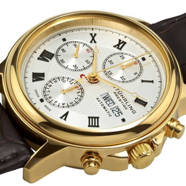 FrizeMedia - Stuhrling Prestige Gold Mens Watch - Digital Marketing And Advertising