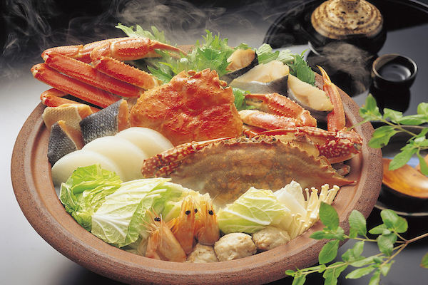 Japanese Cuisine Crab Nabe - Healthy Fresh Fish Seafood Rice And Vegetables #FrizeMedia