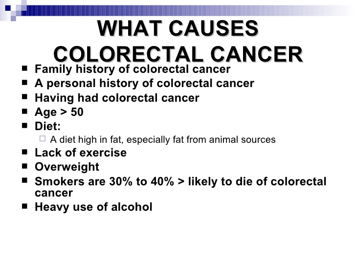colon cancer symptoms causes and treatment Colon cancer and rectal cancer - screening, symptoms, diagnosis & treatment introduction what is colorectal cancer who is at risk what are screening tests, and why are they so important.