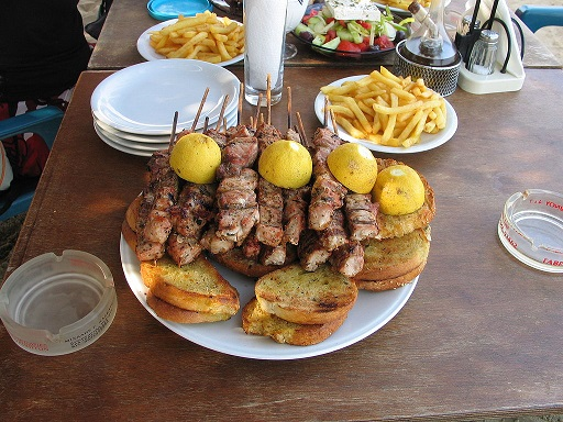 Souvlaki (Greek: σουβλάκι, [suˈvlaki]) plural souvlakia is a well liked Greek fast food consisting of tiny pieces of meat and on occasions vegetables grilled on a skewer.
