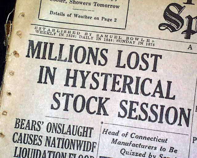 Stock Market - Wall Street October 1929 #Finance #Money #FrizeMedia