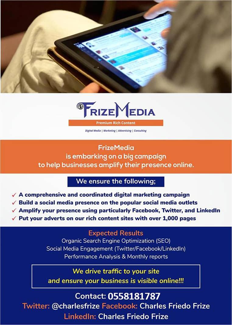 #FrizeMedia #DigitalMarketingServices #OnlineAdvertisingGhana #OnlineMarketingTopEurope