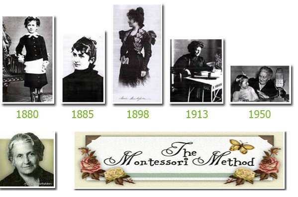 Maria Montessori. Italy's first female doctor. One of first teachers to develop an interest led approach to learning.
